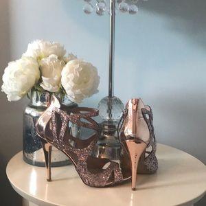 Betsey Johnson Glitter Pump Sandals